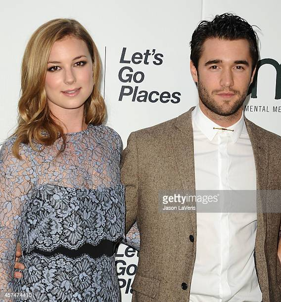 Actress Emily VanCamp and actor Josh Bowman attend the 2014 Environmental Media Awards at Warner Bros Studios on October 18 2014 in Burbank California