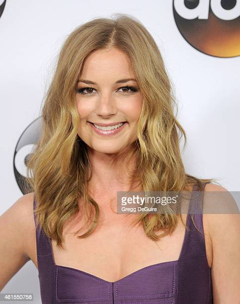 Actress Emily VanCamp arrives at Disney ABC Television Group's TCA Winter Press Tour on January 14 2015 in Pasadena California