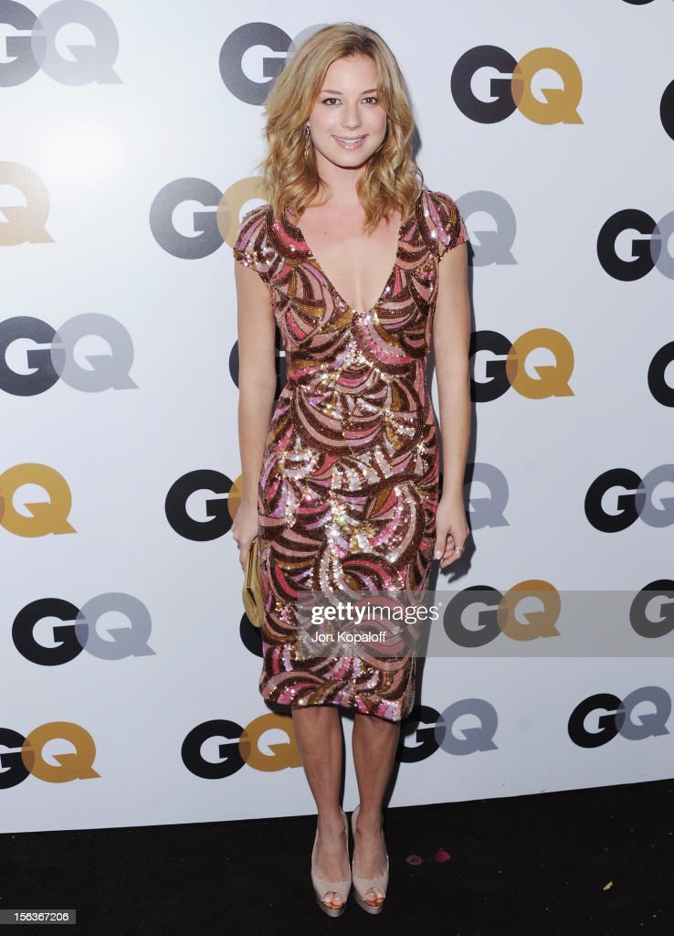 Actress Emily VanCamp arrives at GQ Men Of The Year Party at Chateau Marmont on November 13, 2012 in Los Angeles, California.