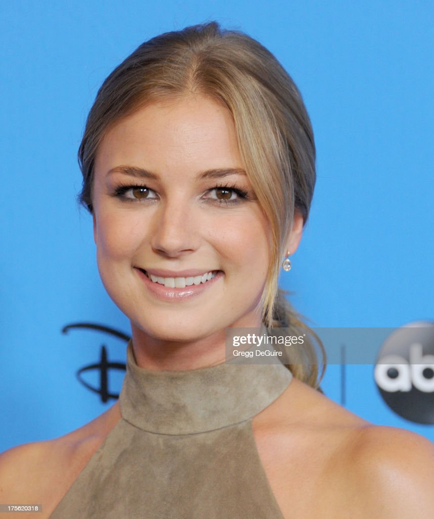 Actress <a gi-track='captionPersonalityLinkClicked' href=/galleries/search?phrase=Emily+VanCamp&family=editorial&specificpeople=574784 ng-click='$event.stopPropagation()'>Emily VanCamp</a> arrives at the 2013 Disney/ABC Television Critics Association's summer press tour party at The Beverly Hilton Hotel on August 4, 2013 in Beverly Hills, California.