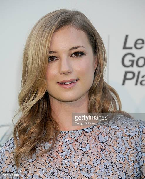 Actress Emily VanCamp arrives at the 2014 Environmental Media Awards at Warner Bros Studios on October 18 2014 in Burbank California