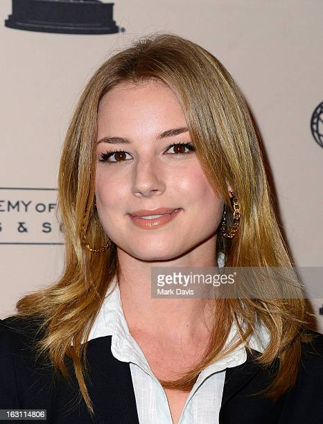 Actress Emily VanCamp arrives at the Academy of Television Arts Sciences Presents An Evening With 'Revenge' at the Leonard H Goldenson Theater held...