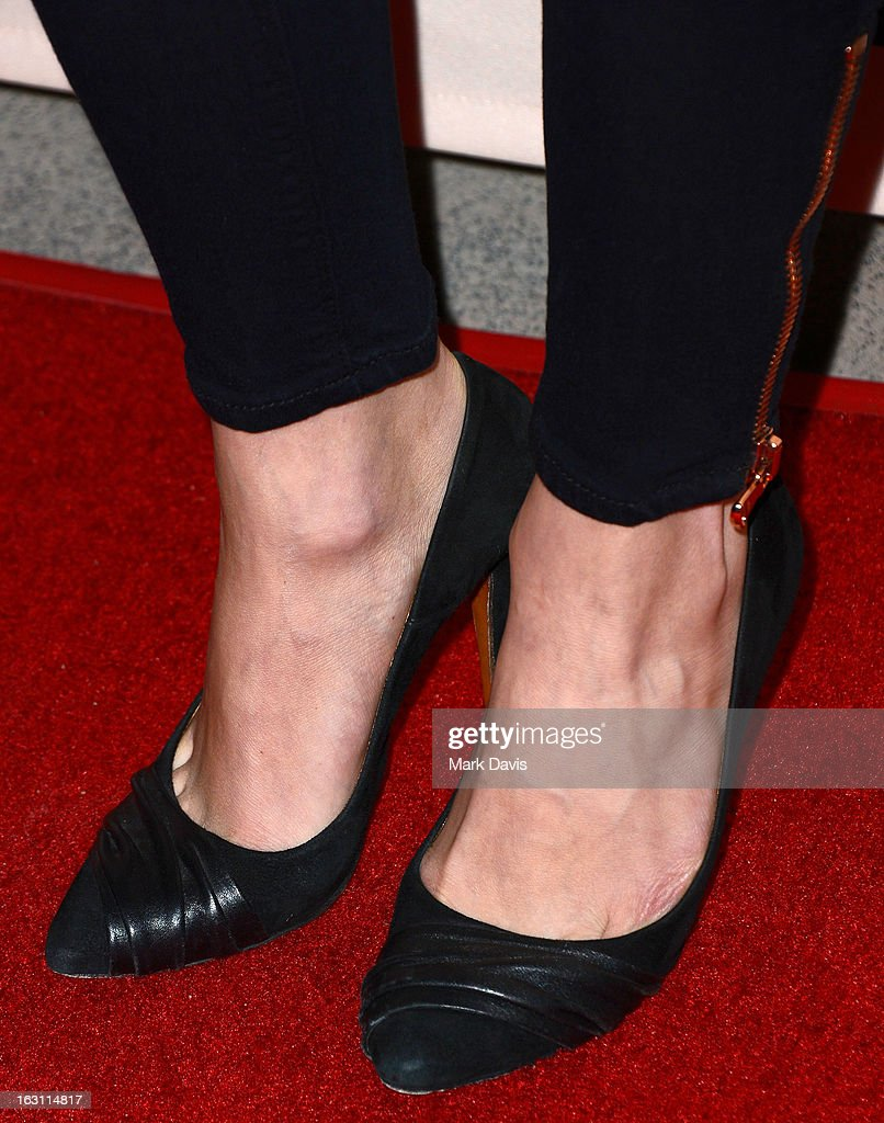 Actress Emily VanCamp (shoe detail) arrives at the Academy of Television Arts & Sciences Presents An Evening With 'Revenge' at the Leonard H. Goldenson Theater held at the Academy of Television Arts & Sciences on March 4, 2013 in North Hollywood, California.