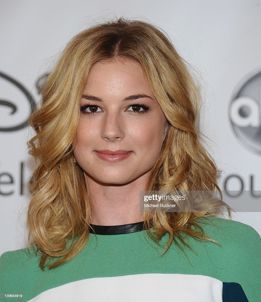 Actress <a gi-track='captionPersonalityLinkClicked' href=/galleries/search?phrase=Emily+VanCamp&family=editorial&specificpeople=574784 ng-click='$event.stopPropagation()'>Emily VanCamp</a> arrives at the Disney ABC Television Group's 'TCA 2001 Summer Press Tour' at the Beverly Hilton Hotel on August 7, 2011 in Beverly Hills, California.