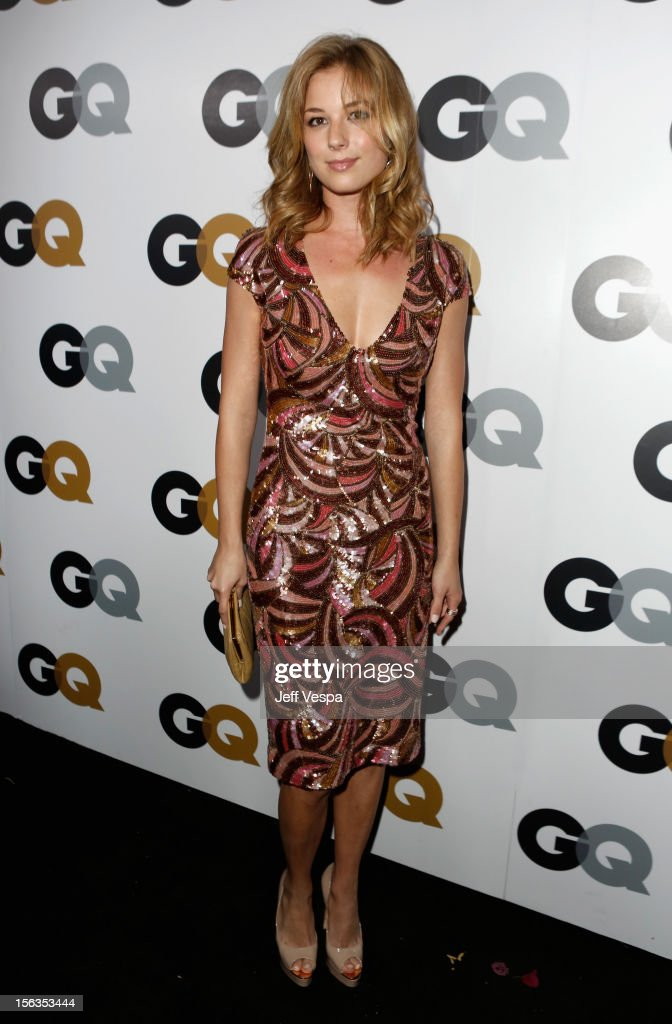 Actress Emily VanCamp arrives at the GQ Men of the Year Party at Chateau Marmont on November 13, 2012 in Los Angeles, California.