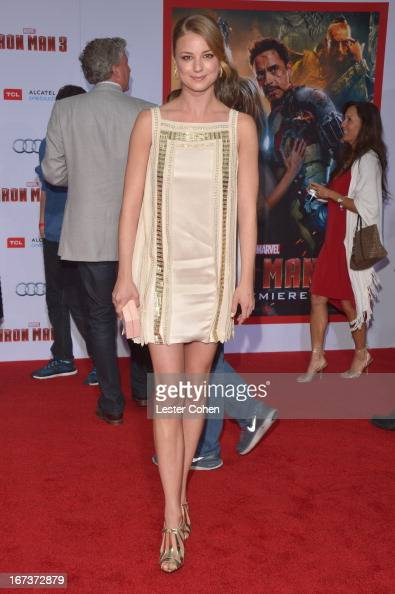 Actress Emily VanCamp arrives at the 'Iron Man 3' Los Angeles Premiere at El Capitan Theatre on April 24 2013 in Hollywood California