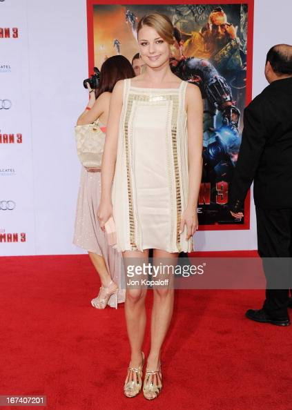 Actress Emily VanCamp arrives at the Los Angeles Premiere 'Iron Man 3' at the El Capitan Theatre on April 24 2013 in Hollywood California