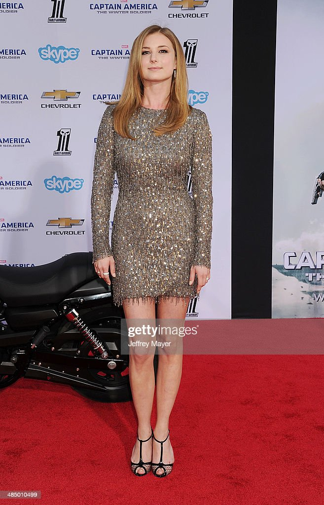 Actress <a gi-track='captionPersonalityLinkClicked' href=/galleries/search?phrase=Emily+VanCamp&family=editorial&specificpeople=574784 ng-click='$event.stopPropagation()'>Emily VanCamp</a> arrives at the Los Angeles premiere of 'Captain America: The Winter Soldier' at the El Capitan Theatre on March 13, 2014 in Hollywood, California.