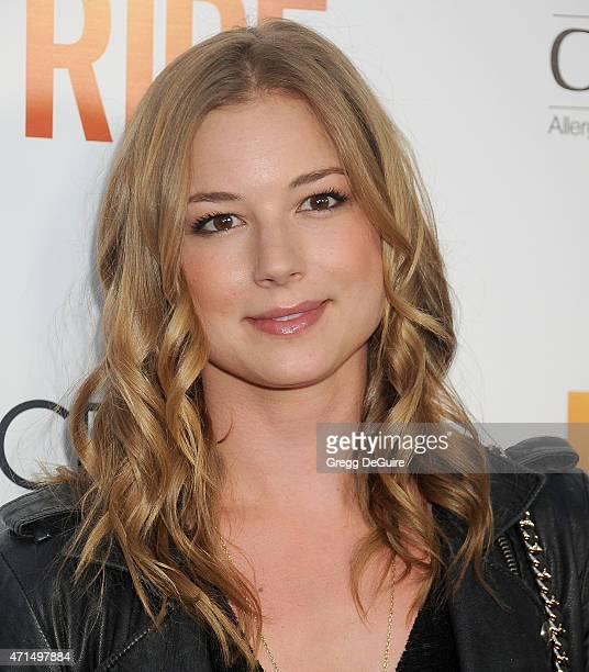 Actress Emily VanCamp arrives at the Los Angeles premiere of 'Ride' at ArcLight Hollywood on April 28 2015 in Hollywood California