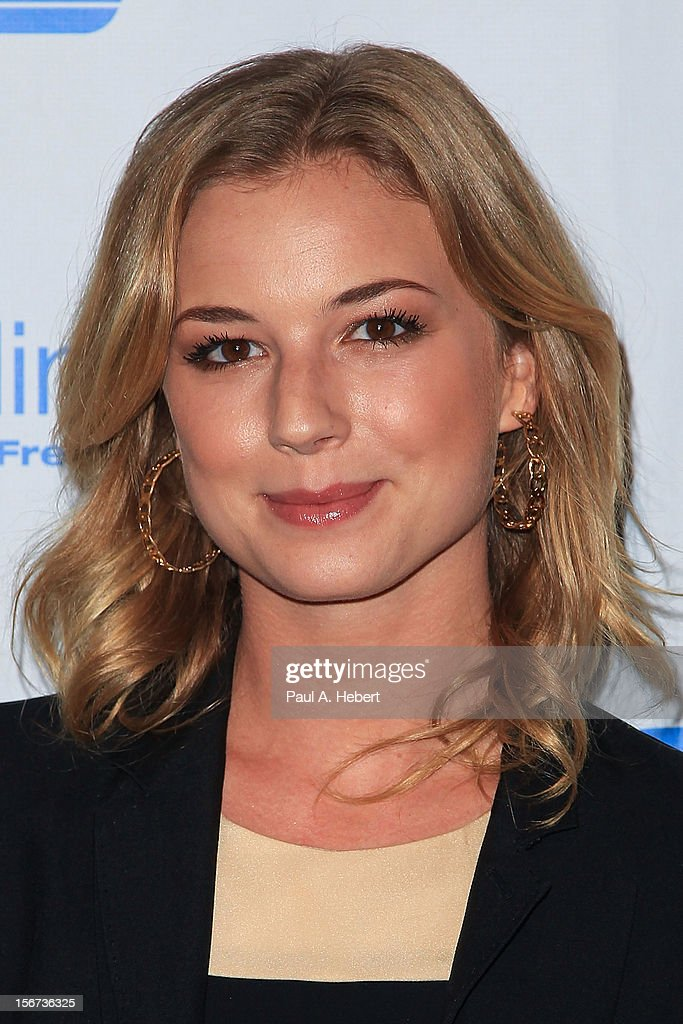 Actress Emily VanCamp arrives at The Saban Free Clinic's Gala Honoring ABC Entertainment Group President Paul Lee and Bob Broder at The Beverly Hilton Hotel on November 19, 2012 in Beverly Hills, California.