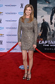 Actress Emily VanCamp arrives for the premiere of Marvel's 'Captain America The Winter Soldier' at the El Capitan Theatre on March 13 2014 in...
