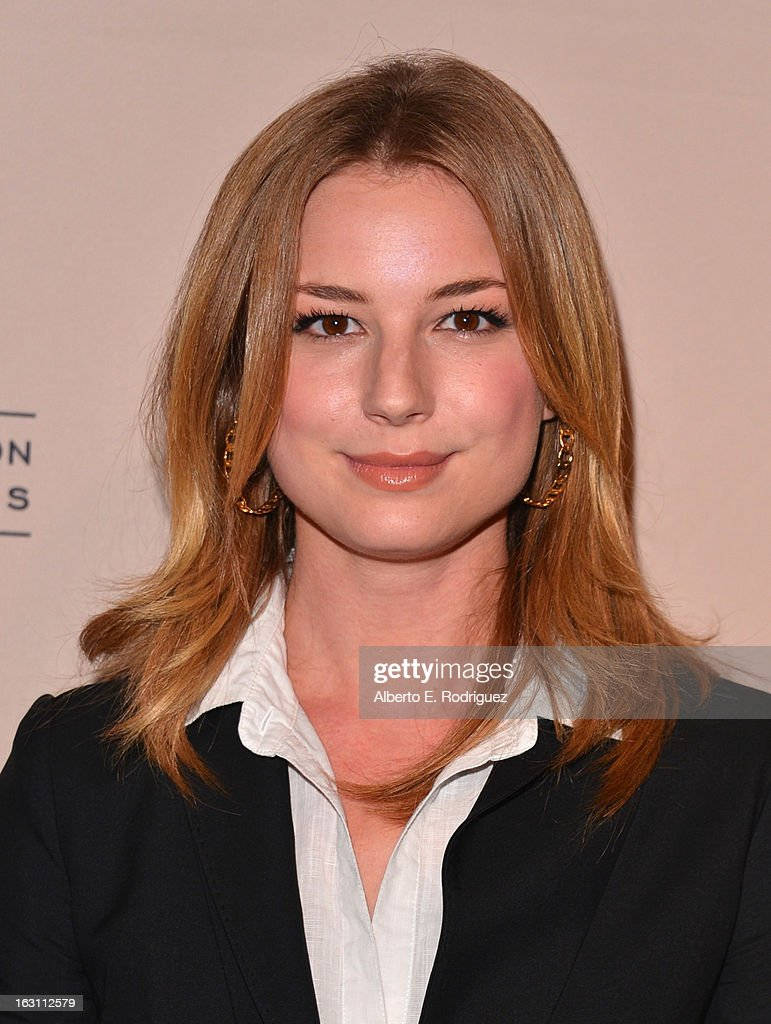 Actress Emily VanCamp arrives to the Academy of Television Arts and Sciences' An Evening with 'Revenge' at Leonard H. Goldenson Theatre on March 4, 2013 in North Hollywood, California.