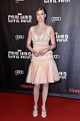 Actress Emily VanCamp attends 'Captain America Civil War' Premiere at Le Grand Rex on April 18 2016 in Paris France