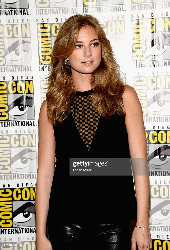 Actress Emily VanCamp attends Marvel's 'Captain America: The Winter Soldier' during Comic-Con International 2013 at the Hilton San Diego Bayfront Hotel on July 20, 2013 in San Diego, California.