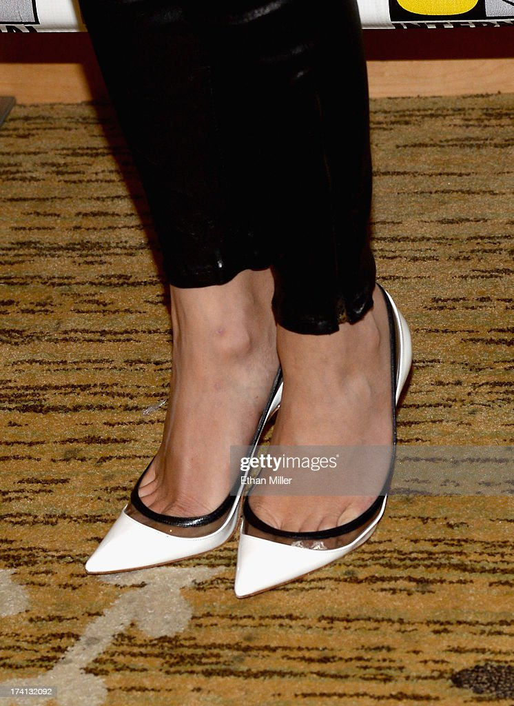 Actress Emily VanCamp (shoes detail) attends Marvel's 'Captain America: The Winter Soldier' during Comic-Con International 2013 at the Hilton San Diego Bayfront Hotel on July 20, 2013 in San Diego, California.