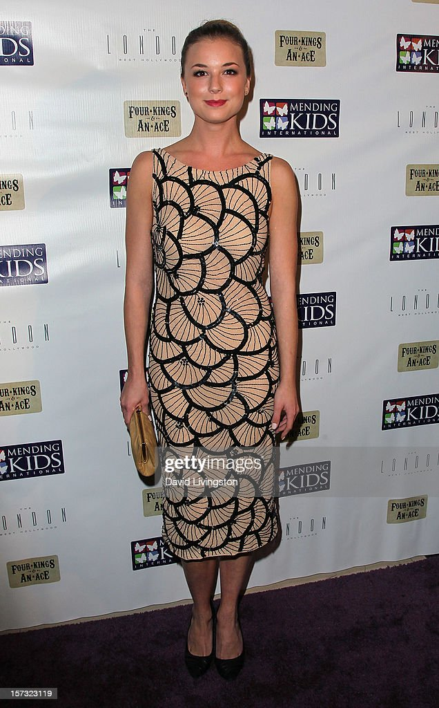 Actress Emily VanCamp attends Mending Kids International's 'Four Kings & An Ace' Celebrity Poker Tournament at The London Hotel on December 1, 2012 in West Hollywood, California.