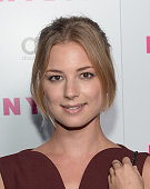 Actress Emily VanCamp attends the NYLON September Issue Party hosted by NYLON ASOS and Emily VanCamp at The Redbury Hotel on August 24 2013 in...