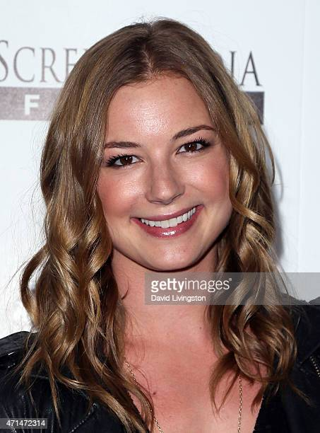 Actress Emily VanCamp attends the premiere of 'Ride' at ArcLight Hollywood on April 28 2015 in Hollywood California