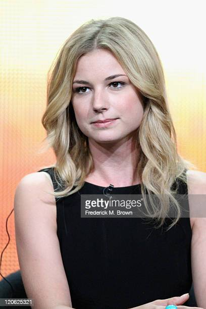 Actress Emily VanCamp of the television show 'Revenge' speaks during the Disney ABC Television Group portion of the 2011 Summer Television Critics...