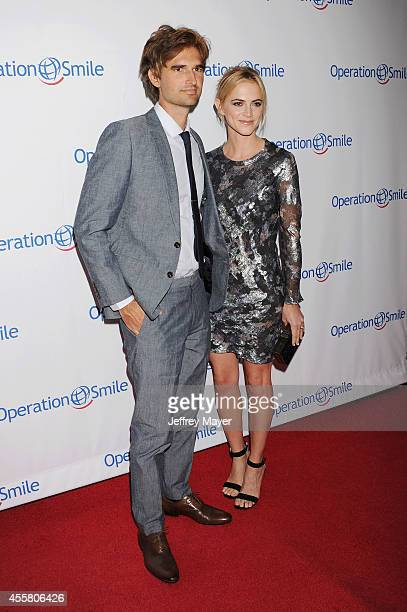 Actress Emily Wickersham and husband/musician Blake Hanley attend the 2014 Operation Smile Gala at the Beverly Wilshire Four Seasons Hotel on...