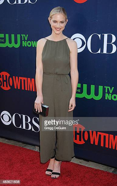 Actress Emily Wickersham arrives at the CBS CW And Showtime 2015 Summer TCA Party at Pacific Design Center on August 10 2015 in West Hollywood...