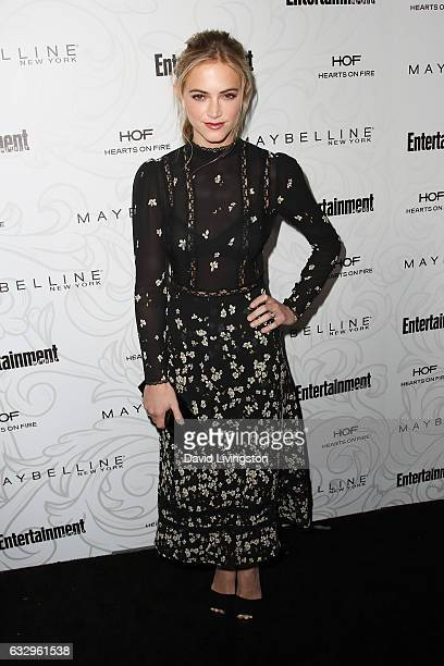 Actress Emily Wickersham arrives at the Entertainment Weekly celebration honoring nominees for The Screen Actors Guild Awards at the Chateau Marmont...