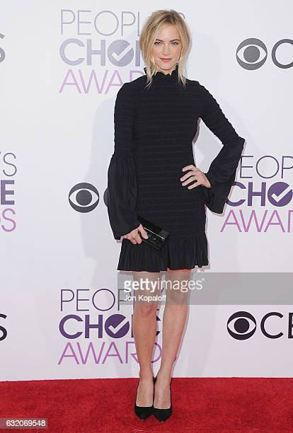 Actress Emily Wickersham arrives at the People's Choice Awards 2017 at Microsoft Theater on January 18 2017 in Los Angeles California