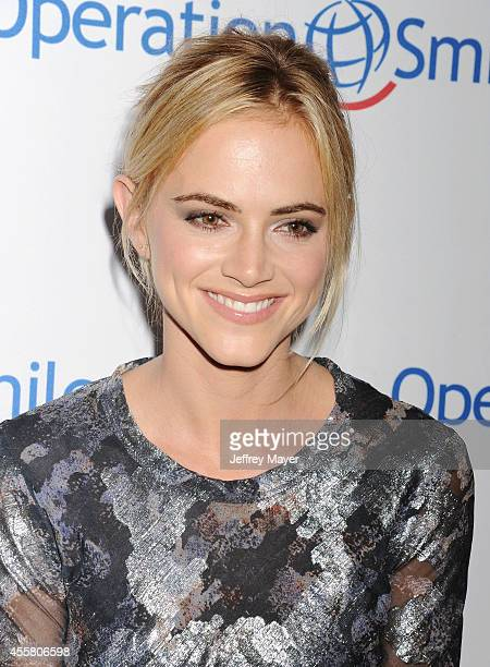 Actress Emily Wickersham attends the 2014 Operation Smile Gala at the Beverly Wilshire Four Seasons Hotel on September 19 2014 in Beverly Hills...