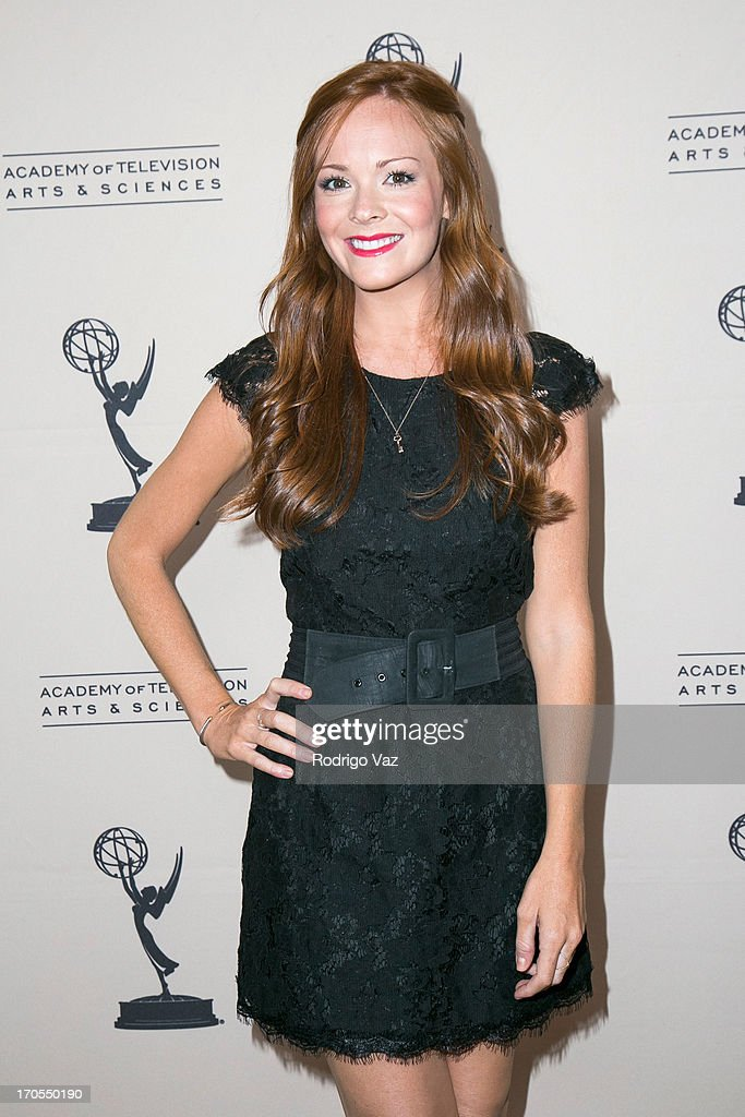 Actress Emily Wilson arrives at the 40th Annual Daytime Emmy Nominees Cocktail Reception at Montage Beverly Hills on June 13, 2013 in Beverly Hills, California.