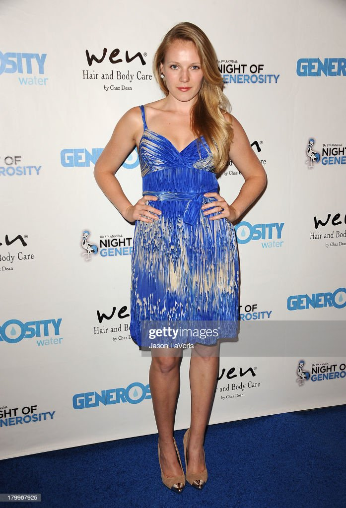 Actress Emma Bell attends Generosity Water's 5th annual Night of Generosity benefit at Beverly Hills Hotel on September 6, 2013 in Beverly Hills, California.