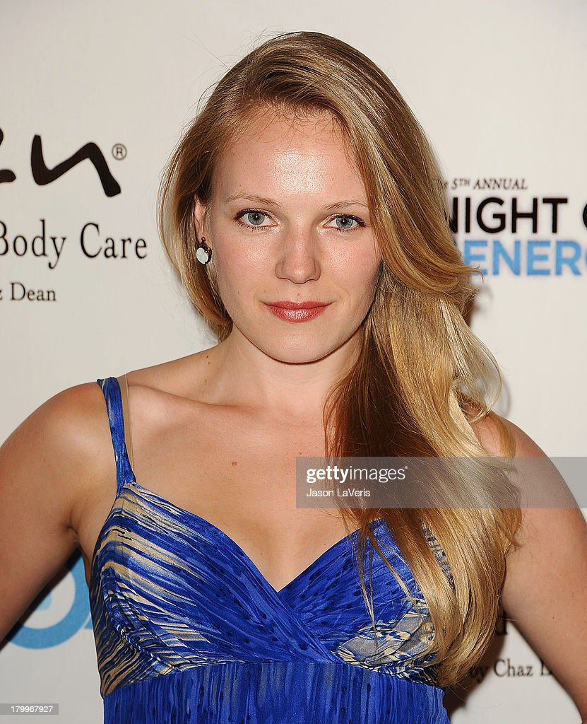 Actress <a gi-track='captionPersonalityLinkClicked' href=/galleries/search?phrase=Emma+Bell&family=editorial&specificpeople=4310299 ng-click='$event.stopPropagation()'>Emma Bell</a> attends Generosity Water's 5th annual Night of Generosity benefit at Beverly Hills Hotel on September 6, 2013 in Beverly Hills, California.