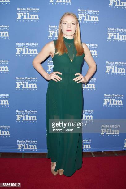 Actress Emma Bell of 'Different Flowers' attends the Maltin Modern Master Award tribute during the 32nd Santa Barbara International Film Festival at...