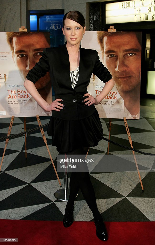 Actress Emma Booth arrives for the premiere of 'The Boys Are Back' at Dendy Opera Quays on November 4 2009 in Sydney Australia