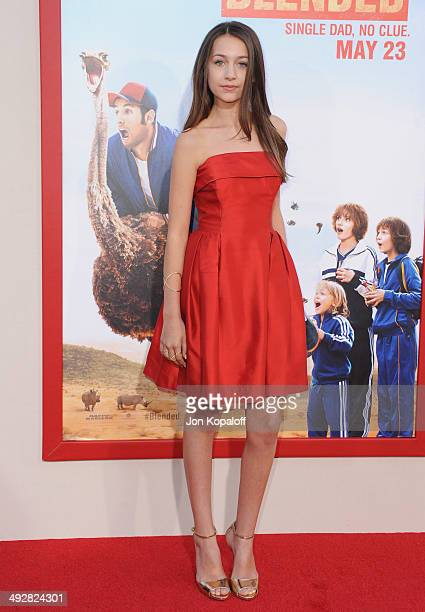 Actress Emma Fuhrmann arrives at the Los Angeles Premiere 'Blended' at TCL Chinese Theatre on May 21 2014 in Hollywood California