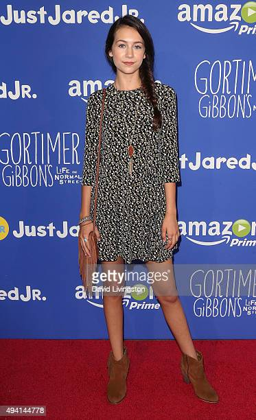 Actress Emma Fuhrmann attends the Just Jared fal attends the Just Jared Fall Fun Day at a private residence on October 24 2015 in Los Angeles...