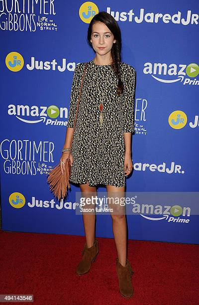 Actress Emma Fuhrmann attends the Just Jared fall fun day on October 24 2015 in Los Angeles California