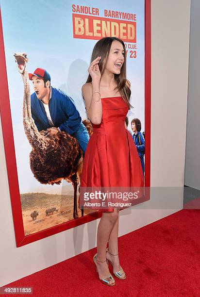 Actress Emma Fuhrmann attends the Los Angeles premiere of 'Blended' at TCL Chinese Theatre on May 21 2014 in Hollywood California