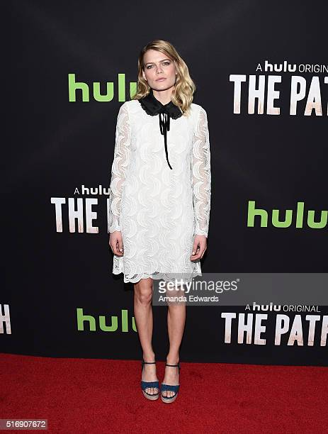 Actress Emma Greenwell arrives at the premiere of Hulu's 'The Path' at the ArcLight Hollywood on March 21 2016 in Hollywood California
