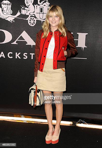 Actress Emma Greenwell attends the Coach Backstage Rodeo Drive store opening celebration at Coach Boutique on December 11 2014 in Beverly Hills...