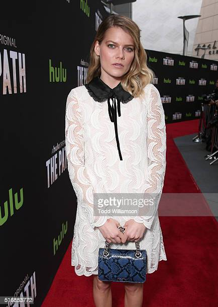 Actress Emma Greenwell attends The Path Premiere Party at ArcLight Hollywood on March 21 2016 in Hollywood California