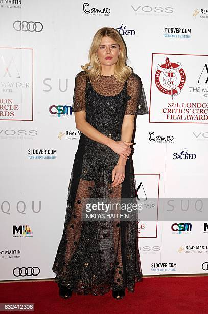 US actress Emma Greenwell poses on the red carpet arriving to attend the London Critics' Circle Film Awards in London on January 22 2017 / AFP /...