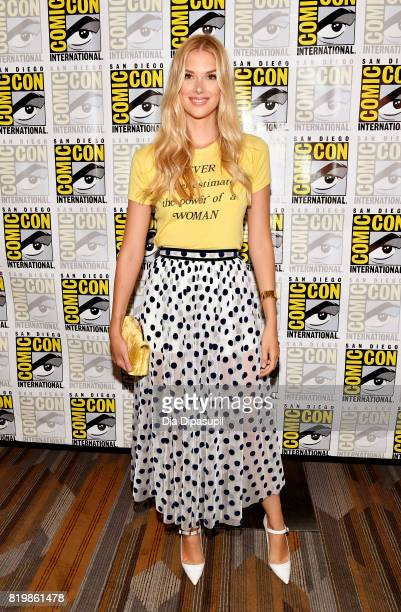 Actress Emma Ishta at the Freeform press line for 'Stitchers' and 'Shadowhunters' during ComicCon International 2017 at Hilton Bayfront on July 20...
