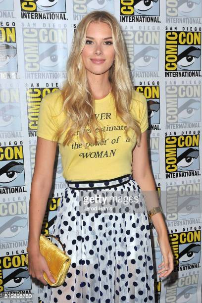 Actress Emma Ishta attends the 'Stitchers' press line at ComicCon International 2017 Day 1 on July 20 2017 in San Diego California