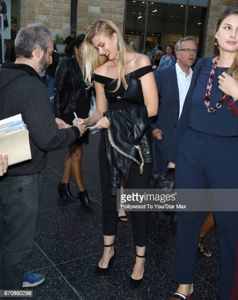Actress Emma Ishta is seen on April 19 2017 in Los Angeles California