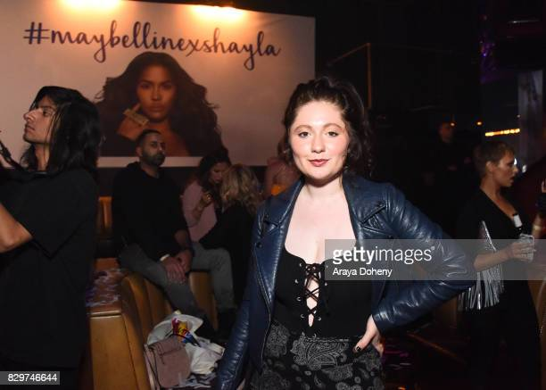 Actress Emma Kenney attends Maybelline New York Celebrates First Ever Cobranded Product Collection With Beauty Influencer Shayla Mitchell at 1OAK on...