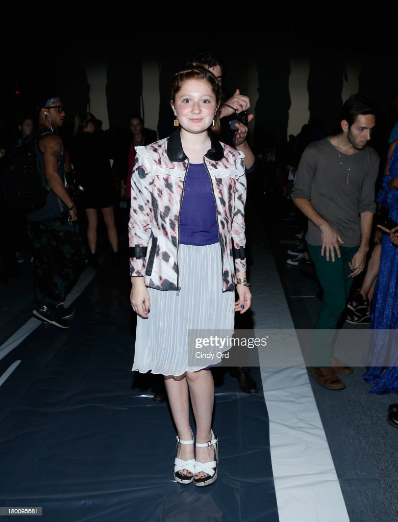 Actress Emma Kenney attends the Emerson By Jackie Fraser-Swan fashion show during Mercedes-Benz Fashion Week Spring 2014 at The Studio at Lincoln Center on September 8, 2013 in New York City.