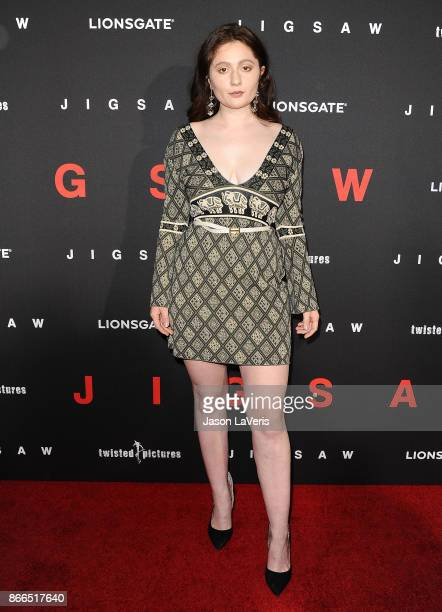 Actress Emma Kenney attends the premiere of 'Jigsaw' at ArcLight Hollywood on October 25 2017 in Hollywood California