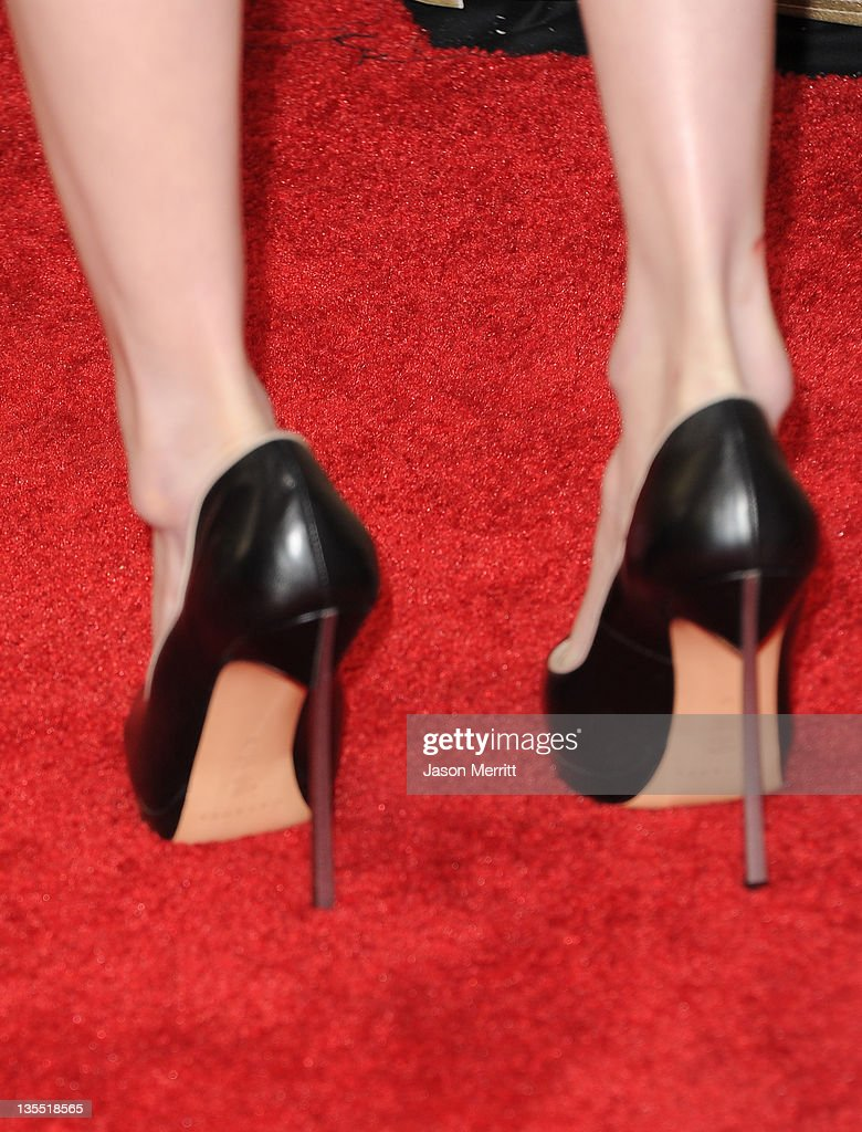 Actress Emma Roberts (shoe detail) arrives at 2011 CNN Heroes: An All-Star Tribute at The Shrine Auditorium on December 11, 2011 in Los Angeles, California. 21959_008_JM_0564.JPG