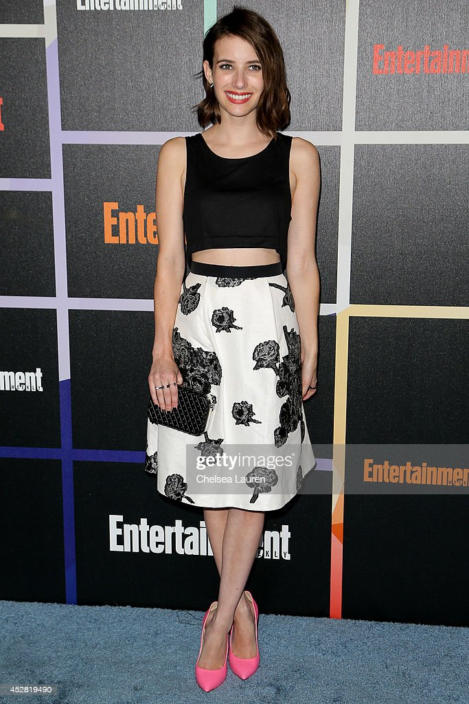 Actress <a gi-track='captionPersonalityLinkClicked' href=/galleries/search?phrase=Emma+Roberts&family=editorial&specificpeople=226535 ng-click='$event.stopPropagation()'>Emma Roberts</a> arrives at Entertainment Weekly's Annual Comic Con Celebration at Float at Hard Rock Hotel San Diego on July 26, 2014 in San Diego, California.
