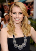 Actress Emma Roberts arrives at premiere of Walt Disney Pictures' 'Pirates of the Caribbean On Stranger Tides' held at Disneyland on May 7 2011 in...